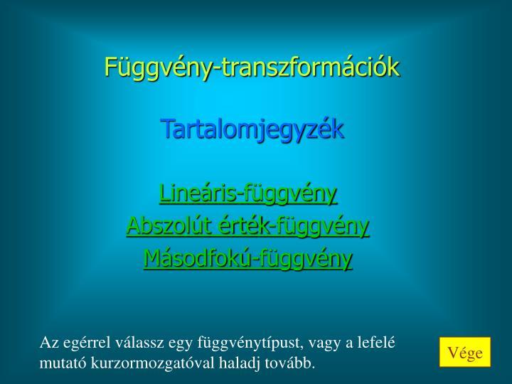 Függvény-transzformációk