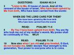 questions isaiah 46 3 46