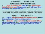 questions isaiah 46 3 49