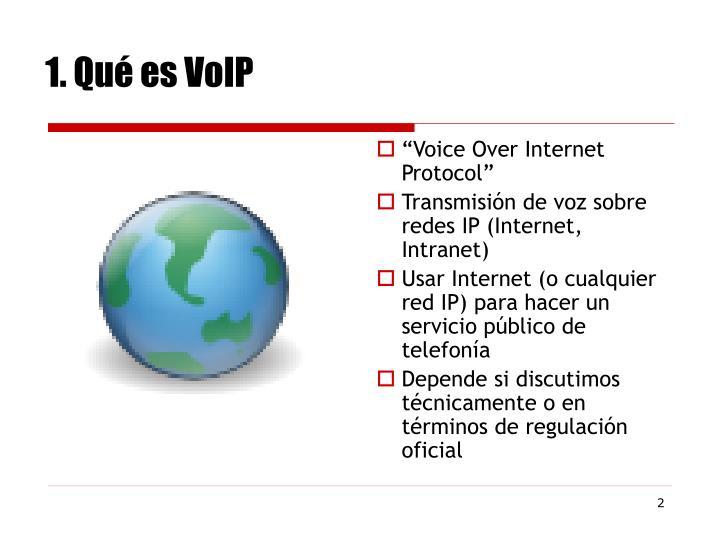 1. Qué es VoIP