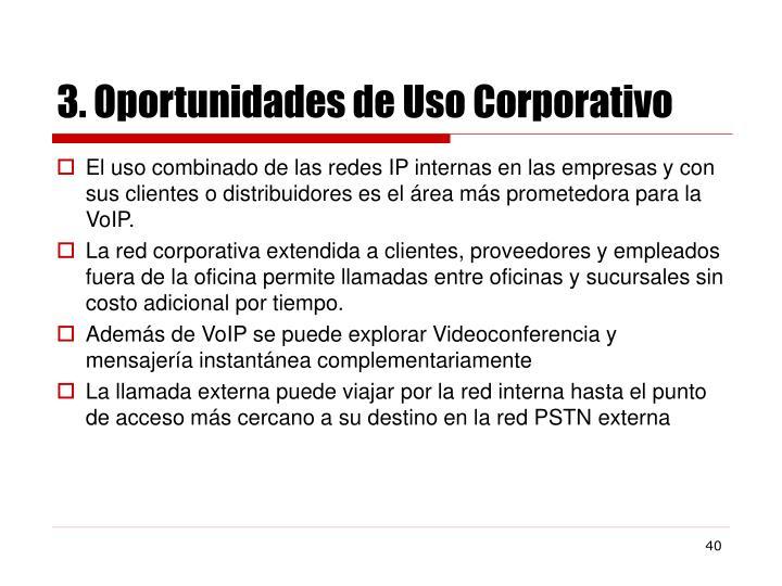3. Oportunidades de Uso Corporativo