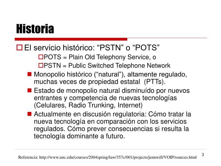 """El servicio histórico: """"PSTN"""" o """"POTS"""""""