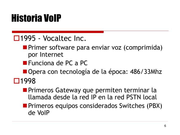 Historia VoIP
