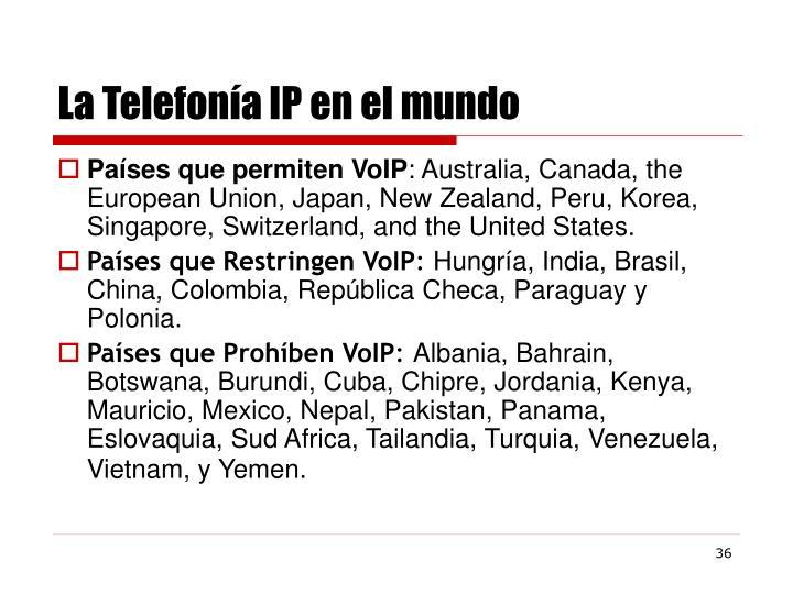 La Telefonía IP en el mundo