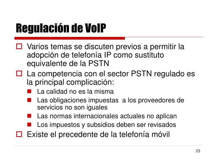 Regulación de VoIP