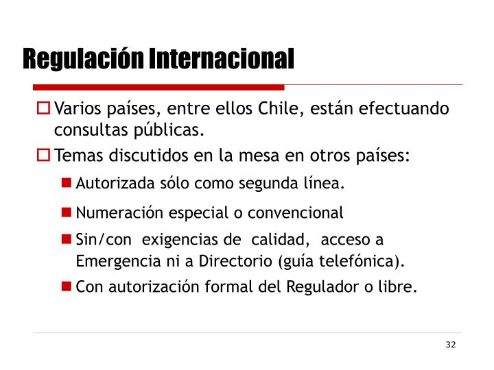 Regulación Internacional