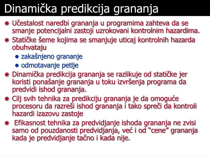 Dinamička predikcija grananja