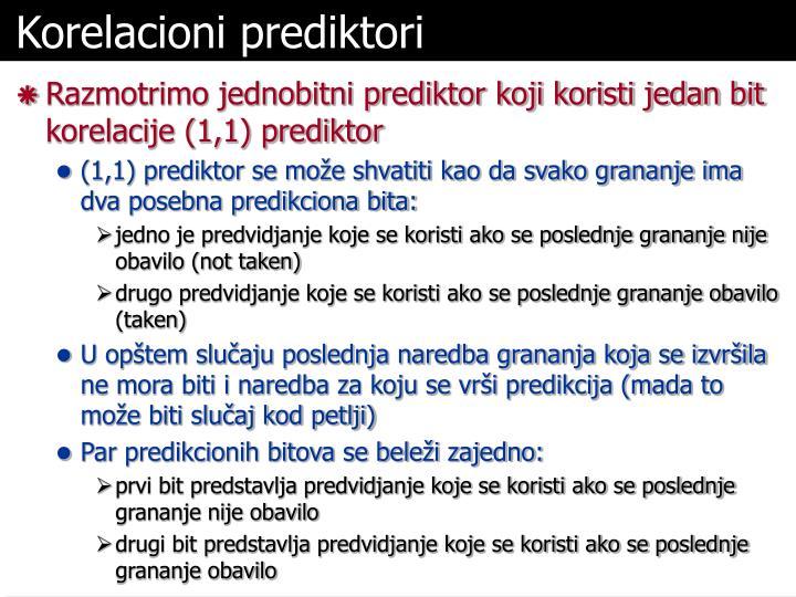 Korelacioni prediktori