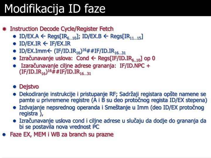 Modifikacija ID faze