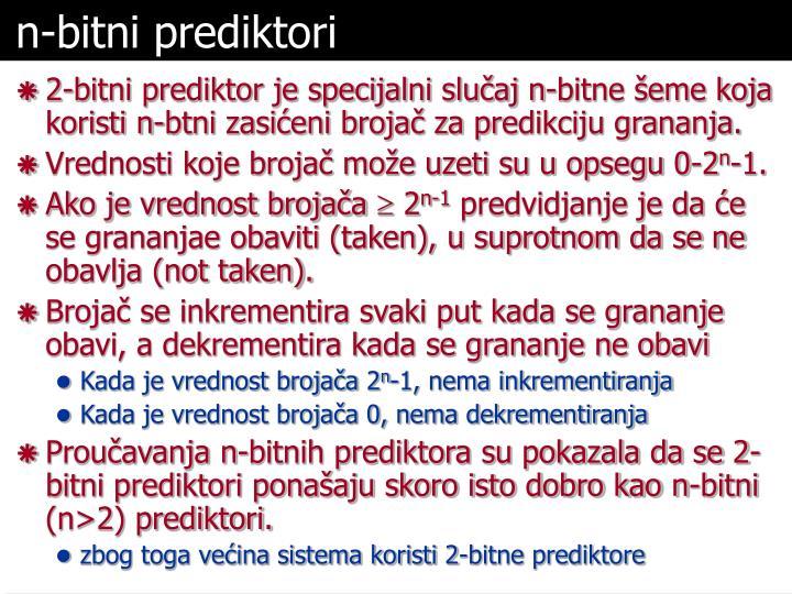 n-bitni prediktori