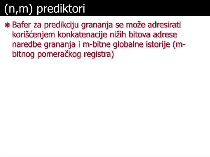 (n,m) prediktori