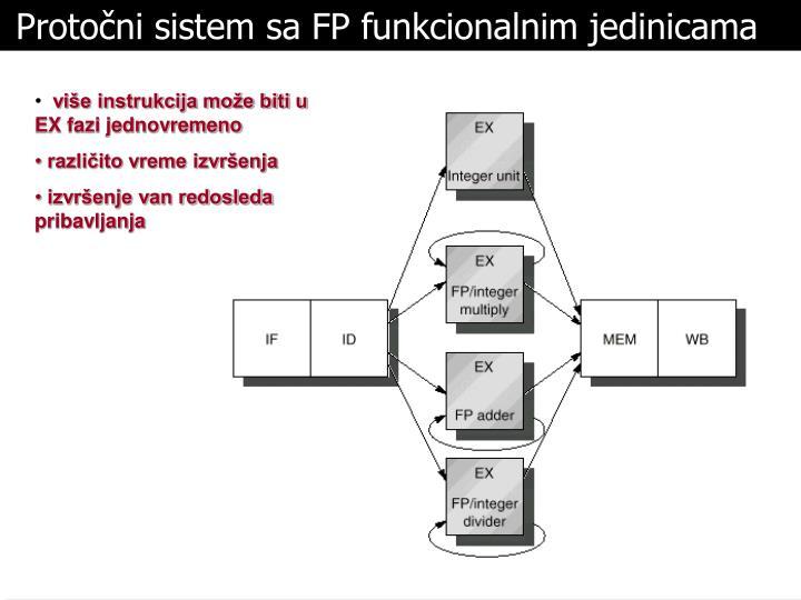 Protočni sistem sa FP funkcionalnim jedinicama