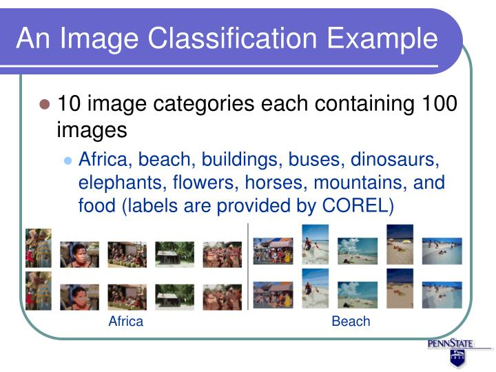 An Image Classification Example