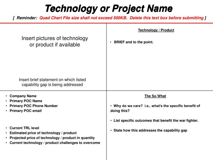 Technology or Project Name