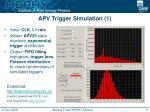 apv trigger simulation 1