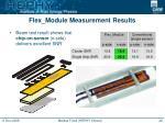 flex module measurement results