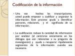 codificaci n de la informaci n