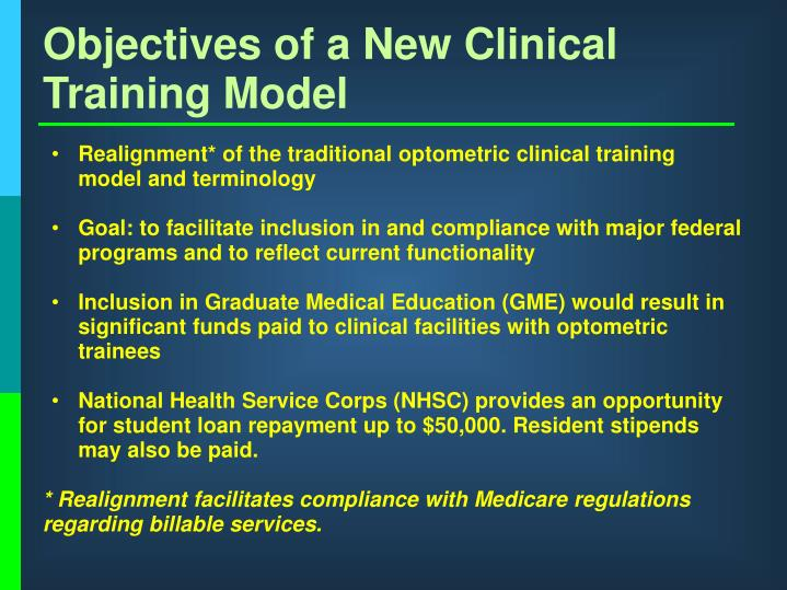 Objectives of a New Clinical