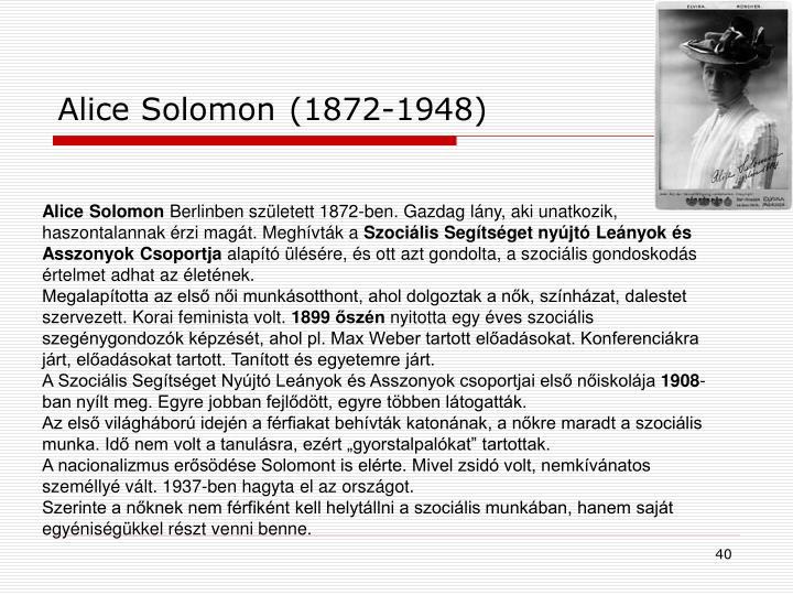 Alice Solomon