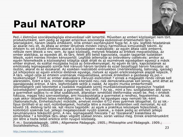 Paul NATORP