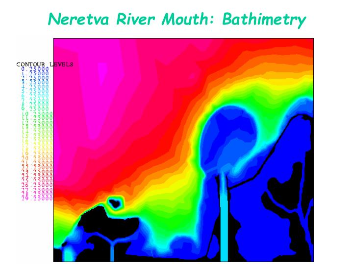 Neretva River Mouth: Bathimetry