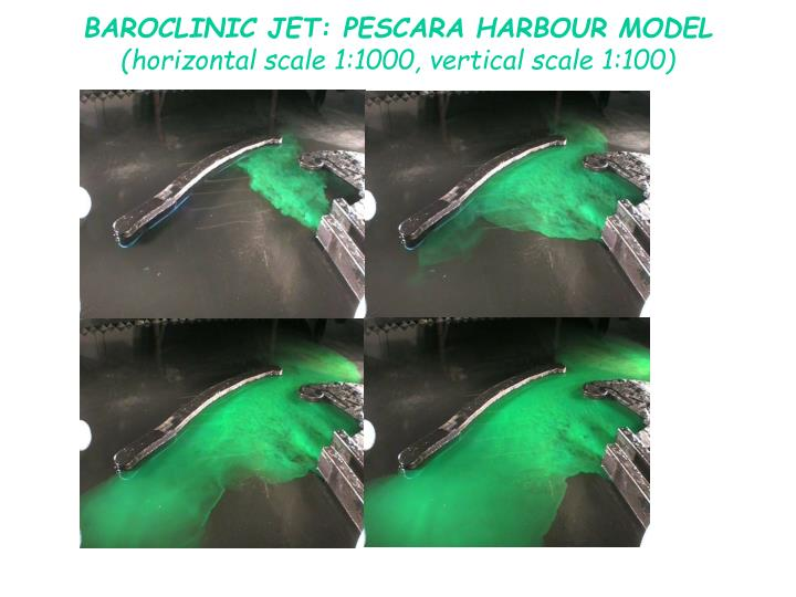 BAROCLINIC JET: PESCARA HARBOUR MODEL