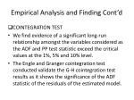 empirical analysis and finding cont d