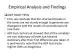 empirical analysis and findings