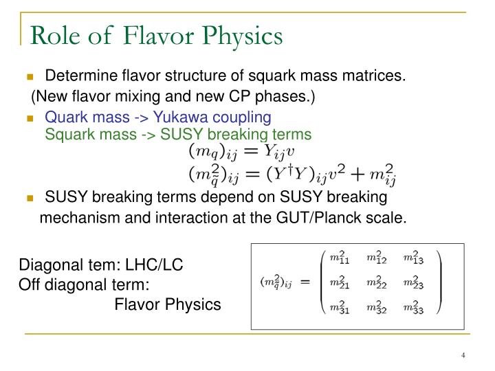 Role of Flavor Physics