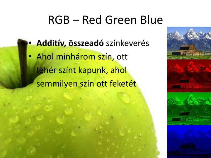 RGB – Red Green Blue