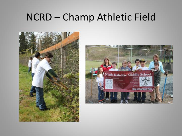 NCRD – Champ Athletic Field