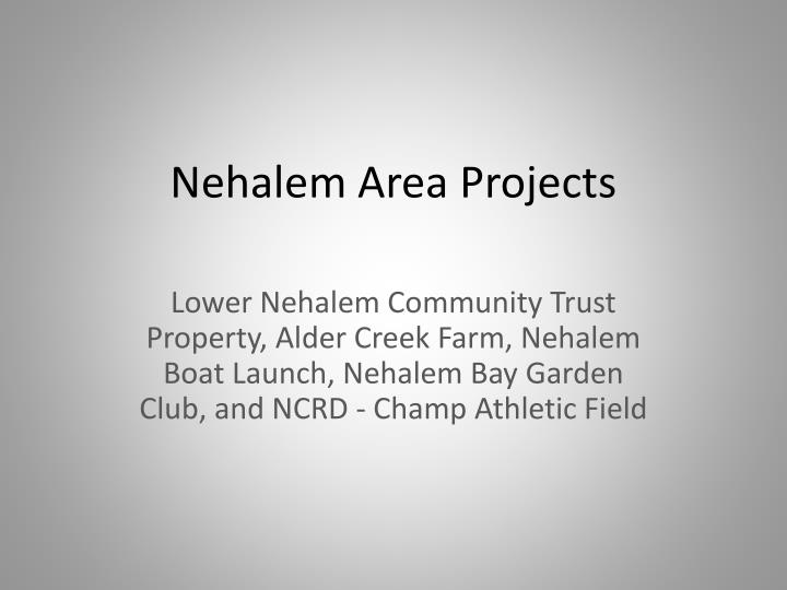 Nehalem Area Projects