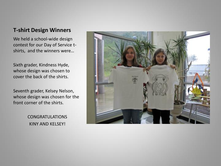 T-shirt Design Winners