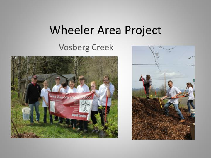 Wheeler Area Project