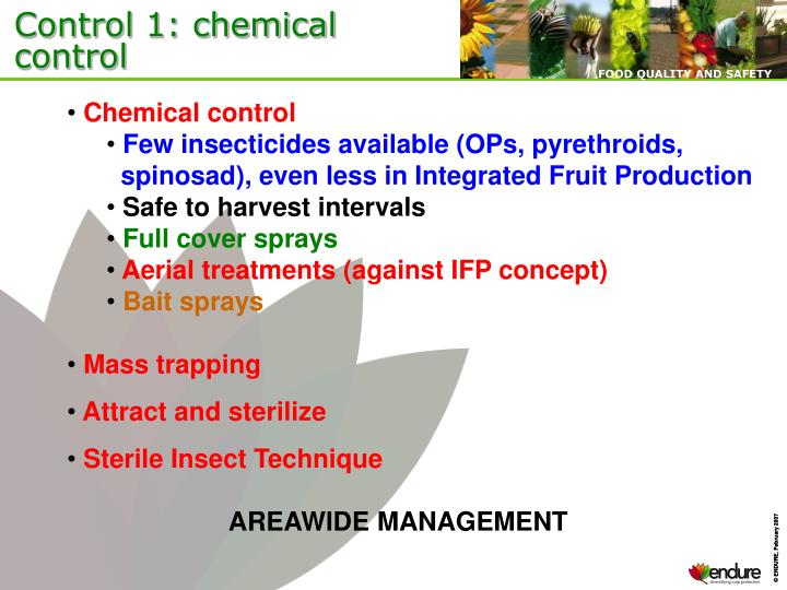 Control 1: chemical control