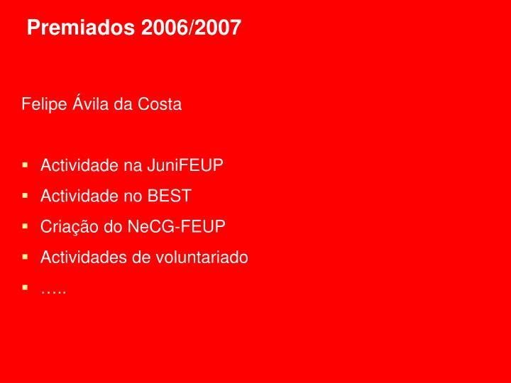Premiados 2006/2007