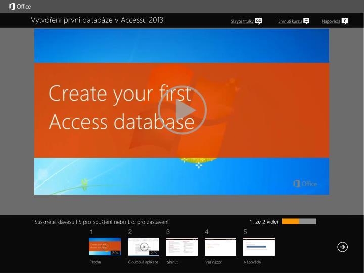 Vytvoření první databáze v Accessu 2013