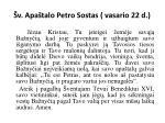 v apa talo petro sostas vasario 22 d