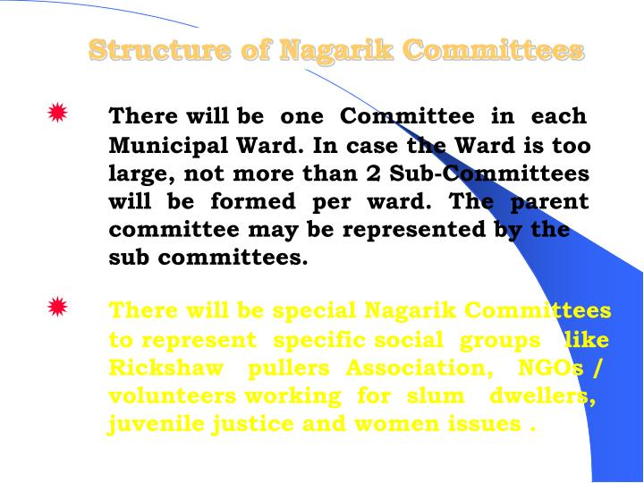 Structure of Nagarik Committees