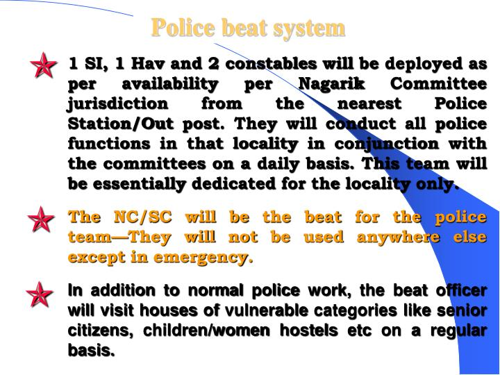 Police beat system
