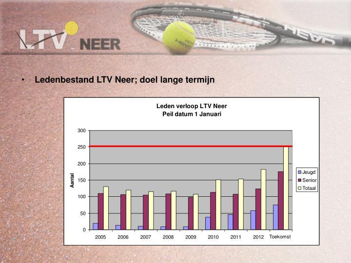 Ledenbestand LTV Neer; doel lange termijn