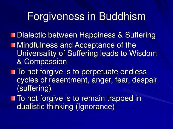 Forgiveness in Buddhism