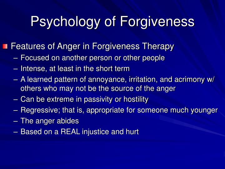 Psychology of Forgiveness