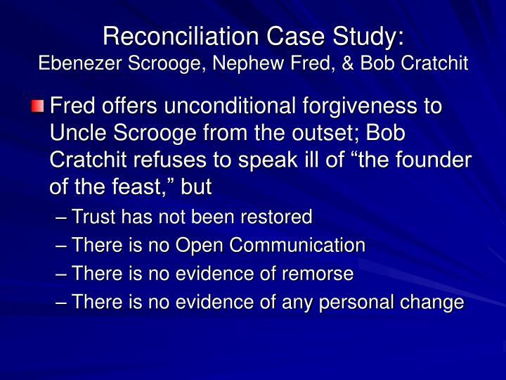 Reconciliation Case Study:
