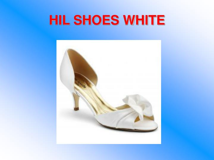 HIL SHOES WHITE