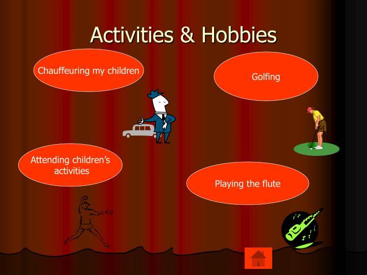 Activities & Hobbies
