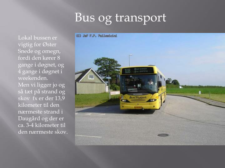 Bus og transport