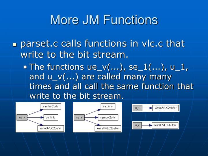 More JM Functions