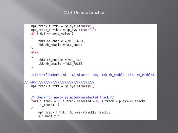 MP4 Demux function