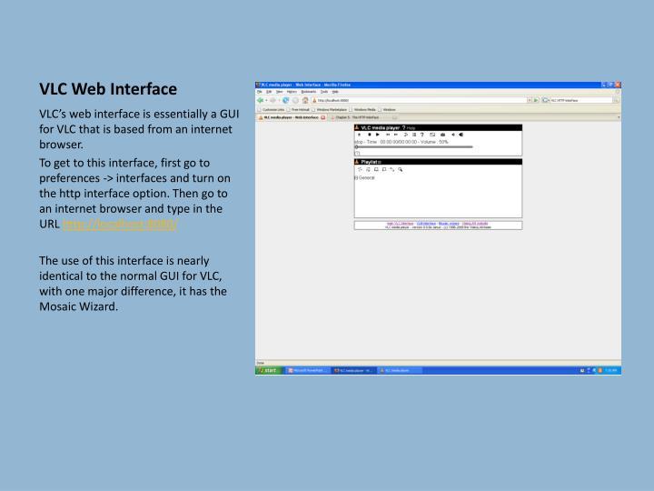 VLC Web Interface